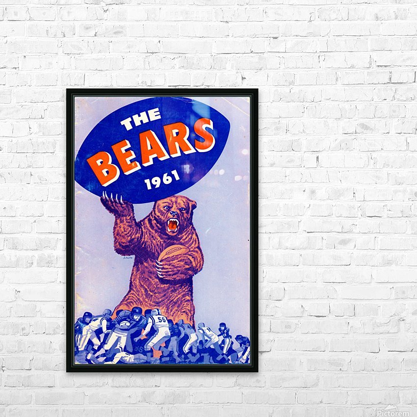 1961_National Football League_Chicago Bears_Row One Brand HD Sublimation Metal print with Decorating Float Frame (BOX)