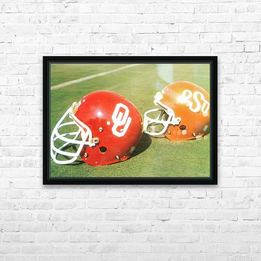 1978 Oklahoma Sooners OSU Cowboys Football Helmet Art  HD Sublimation Metal print with Decorating Float Frame (BOX)