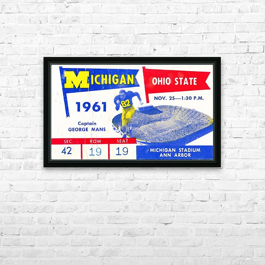 1961_College_Football_Ohio State vs. Michigan_Michigan Stadium_Ann Arbor_Row One Brand HD Sublimation Metal print with Decorating Float Frame (BOX)