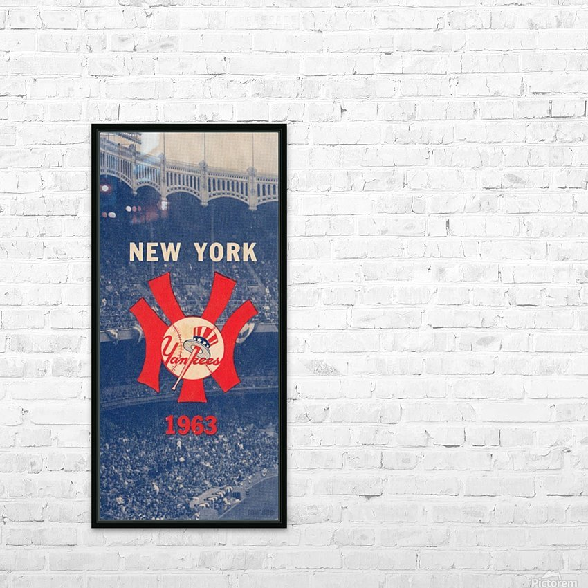 1963 New York Yankees Baseball Cover Art by Row One Brand  HD Sublimation Metal print with Decorating Float Frame (BOX)