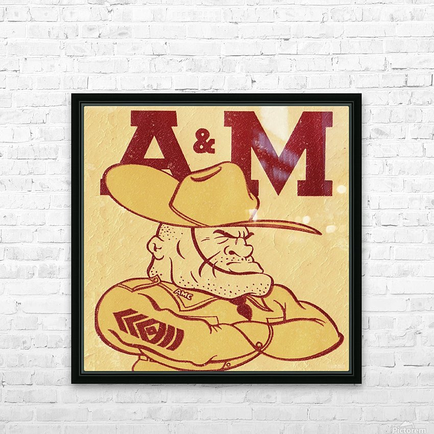 Vintage Ol Sarge 1951 Texas A&M HD Sublimation Metal print with Decorating Float Frame (BOX)
