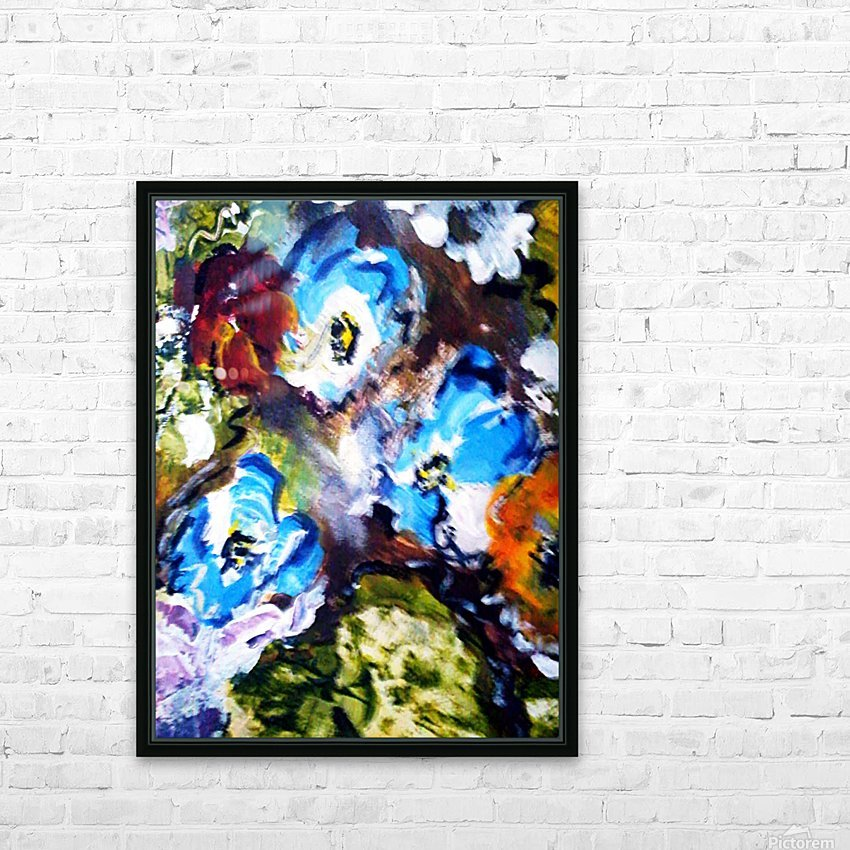 Primary Blue1 HD Sublimation Metal print with Decorating Float Frame (BOX)