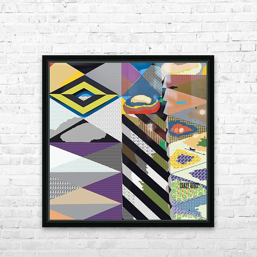 crazy quilt HD Sublimation Metal print with Decorating Float Frame (BOX)
