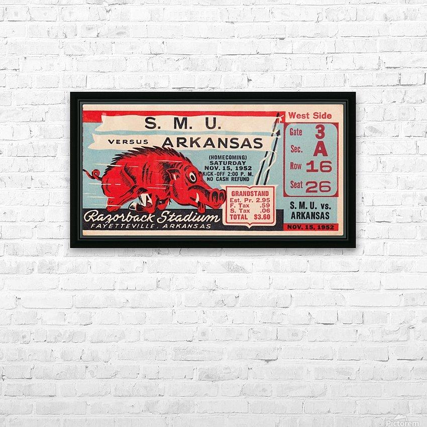 1952 SMU vs. Arkansas HD Sublimation Metal print with Decorating Float Frame (BOX)