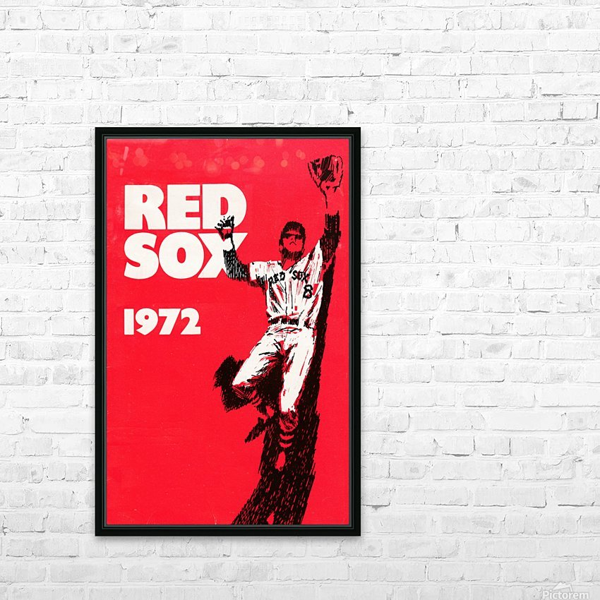 1972_Major League Baseball_Boston Red Sox_Fenway Park_Row One Brand HD Sublimation Metal print with Decorating Float Frame (BOX)