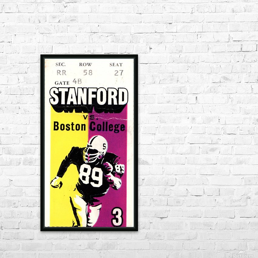 1979_College_Football_Boston College vs. Stanford_Palo Alto_Row One Brand College Art HD Sublimation Metal print with Decorating Float Frame (BOX)