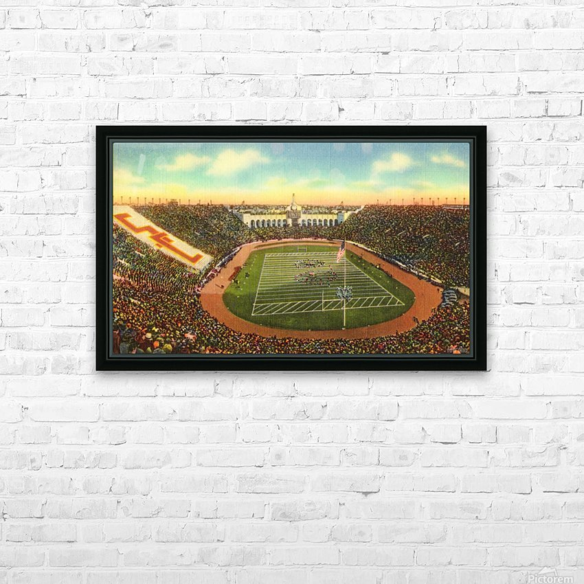 1940s Los Angeles Coliseum USC Trojans Football Art HD Sublimation Metal print with Decorating Float Frame (BOX)
