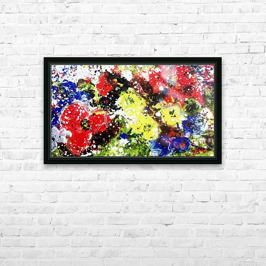 Primary Blossom HD Sublimation Metal print with Decorating Float Frame (BOX)
