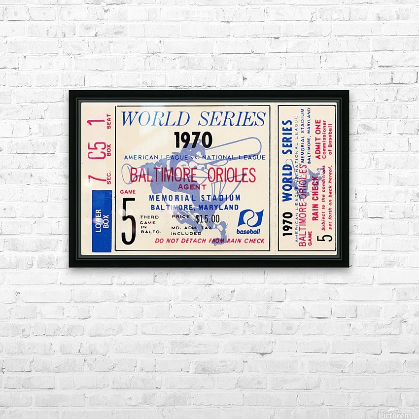 1970_Major League Baseball_World Series_Baltimore Orioles vs. Cincinnati Reds_Memorial Stadium_Row 1 HD Sublimation Metal print with Decorating Float Frame (BOX)