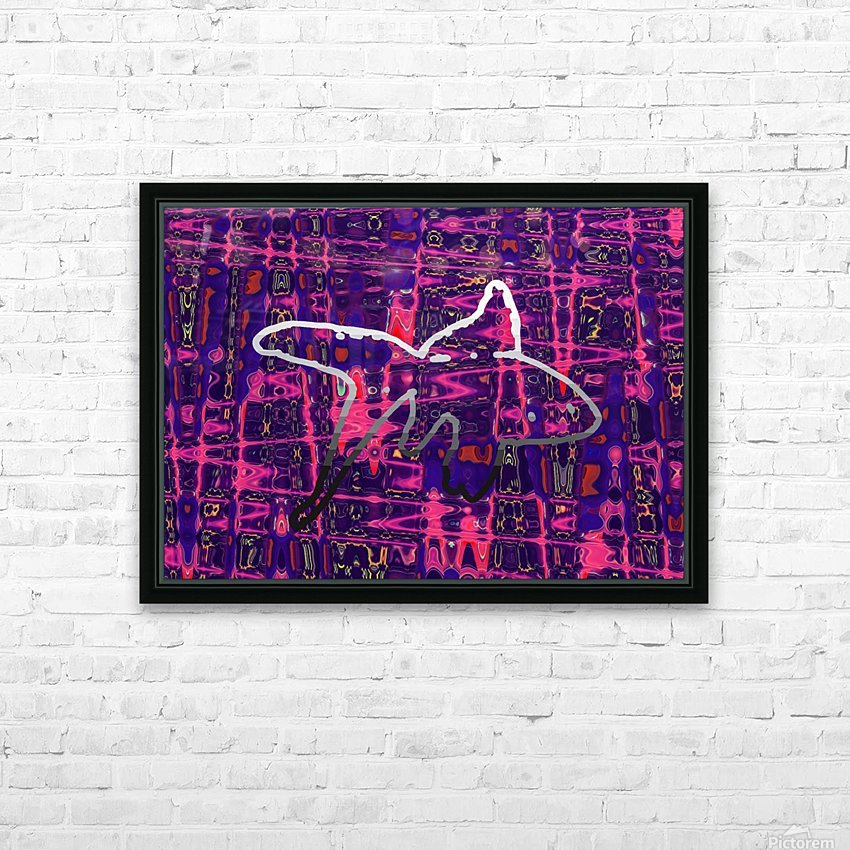 Abstract Fish HD Sublimation Metal print with Decorating Float Frame (BOX)