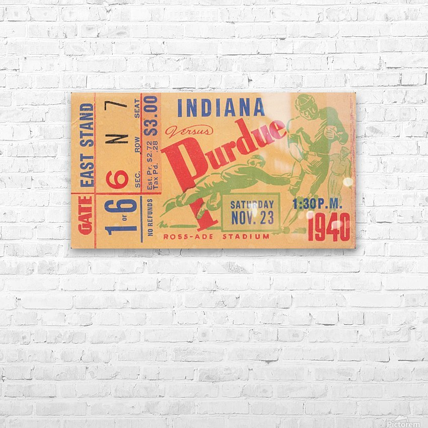 1940 Indiana vs. Purdue  HD Sublimation Metal print with Decorating Float Frame (BOX)