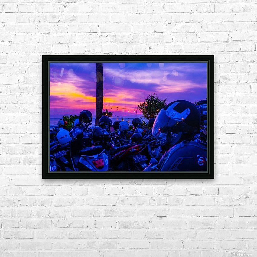 Echo Beach HD Sublimation Metal print with Decorating Float Frame (BOX)