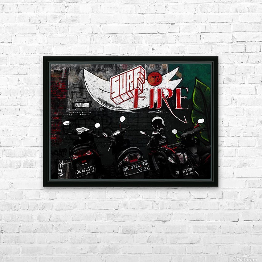 Surf Fire HD Sublimation Metal print with Decorating Float Frame (BOX)