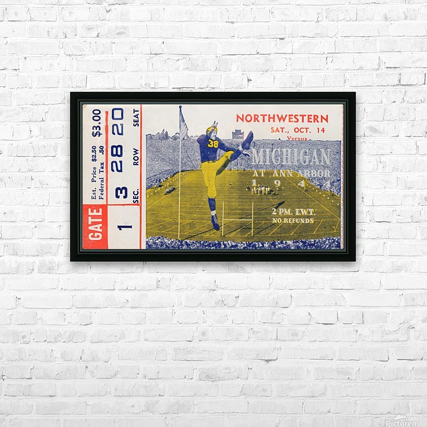 1944 Northwestern vs. Michigan HD Sublimation Metal print with Decorating Float Frame (BOX)