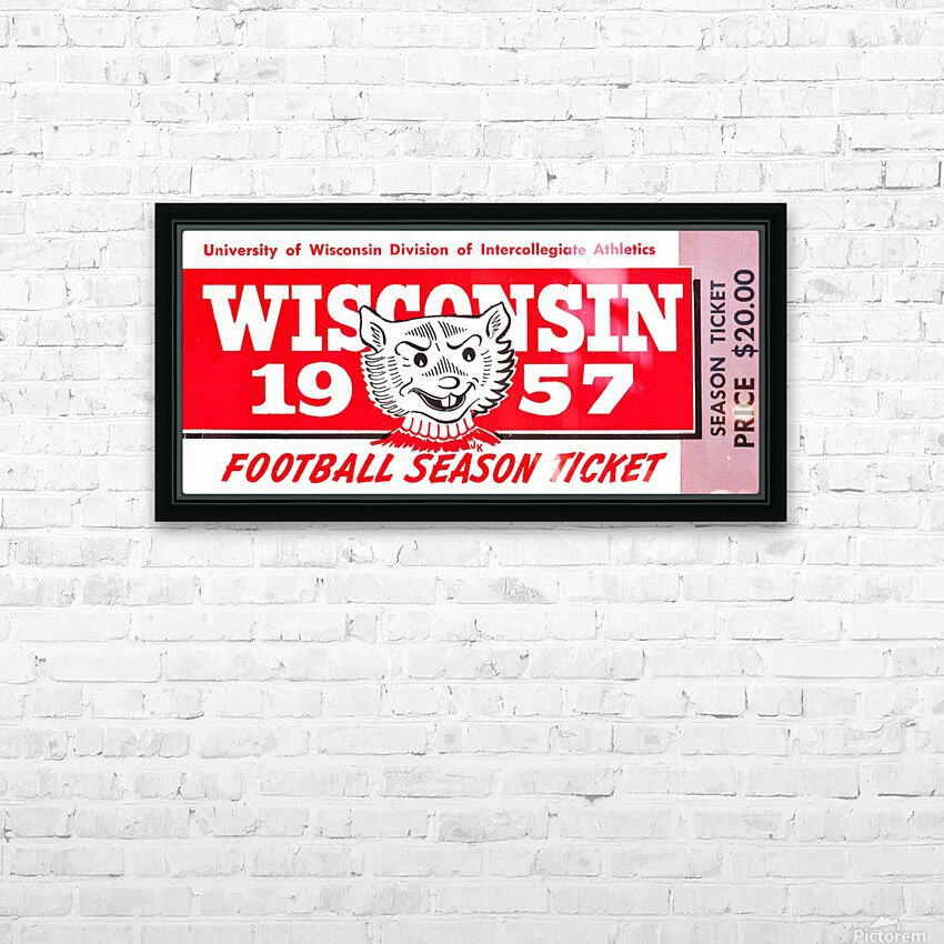 1957 Wisconsin Badgers Season Ticket HD Sublimation Metal print with Decorating Float Frame (BOX)