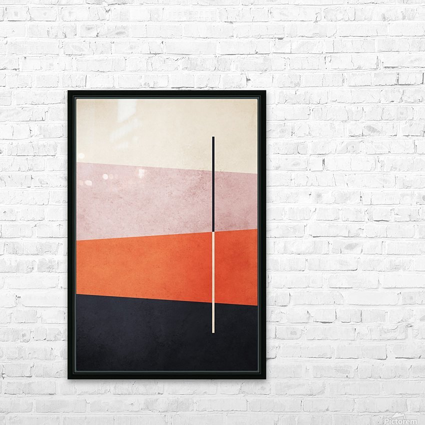 Shapes 06 - Abstract Geometric Art Print HD Sublimation Metal print with Decorating Float Frame (BOX)