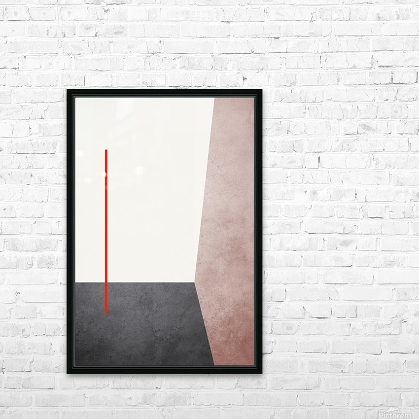 Shapes 04 - Abstract Geometric Art Print HD Sublimation Metal print with Decorating Float Frame (BOX)