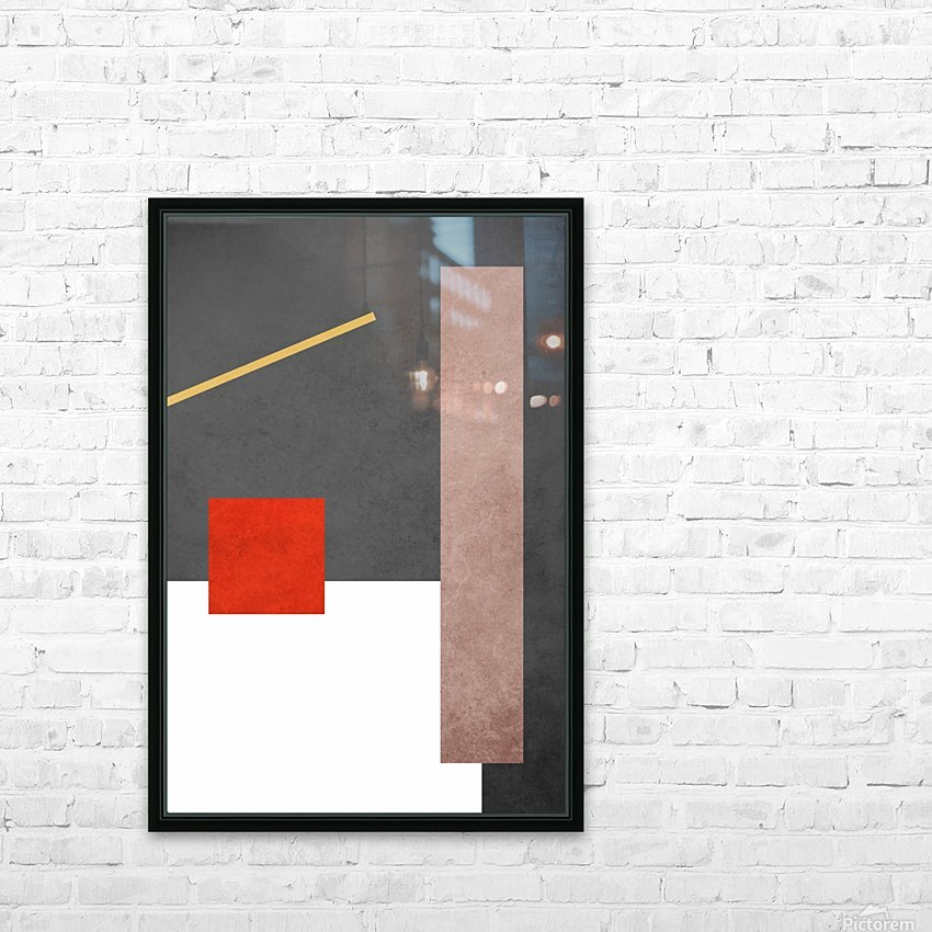 Shapes 03 - Abstract Geometric Art Print HD Sublimation Metal print with Decorating Float Frame (BOX)