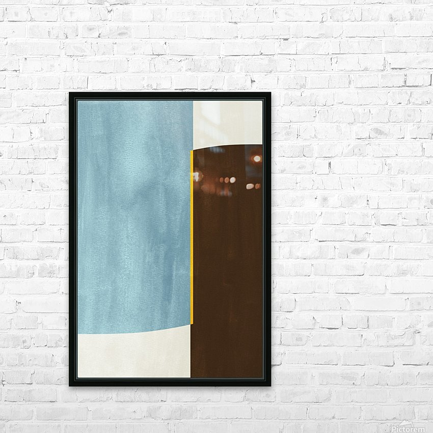 Shapes 05 - Abstract Geometric Art Print HD Sublimation Metal print with Decorating Float Frame (BOX)