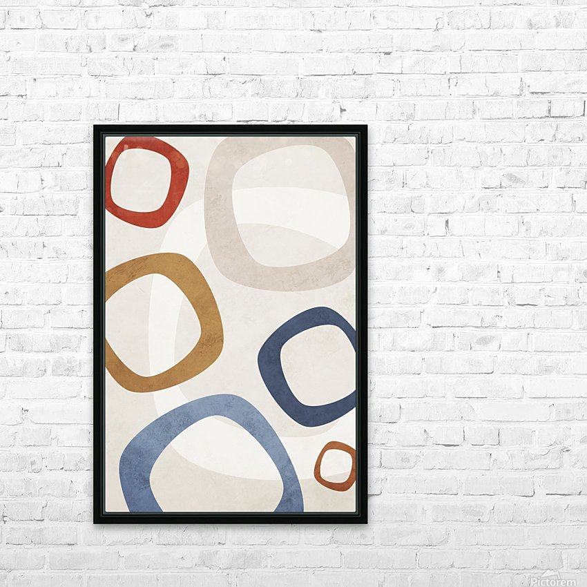 Shapes 08 - Abstract Geometric Art Print HD Sublimation Metal print with Decorating Float Frame (BOX)