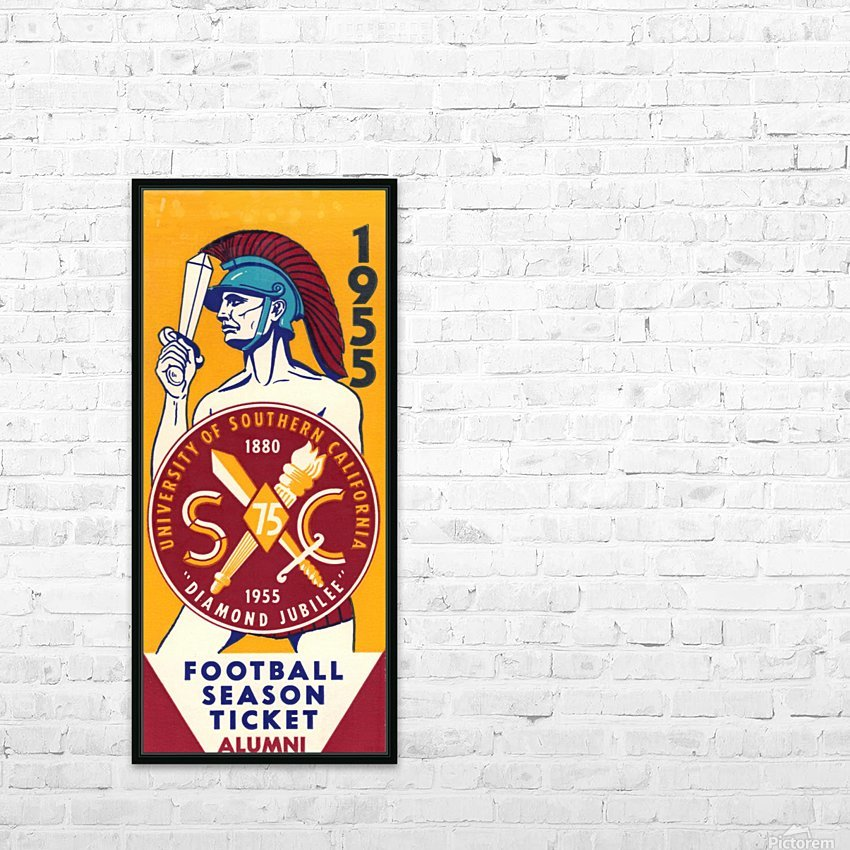 1955 USC Trojans Alumni Season Ticket HD Sublimation Metal print with Decorating Float Frame (BOX)