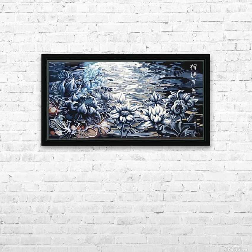 Silver night HD Sublimation Metal print with Decorating Float Frame (BOX)