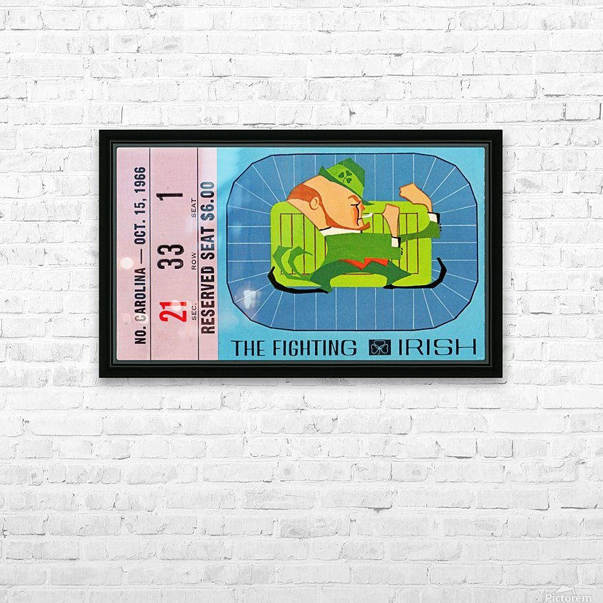 1966_College_Football_North Carolina vs. Notre Dame_Notre Dame Stadium_South Bend_National Champions HD Sublimation Metal print with Decorating Float Frame (BOX)