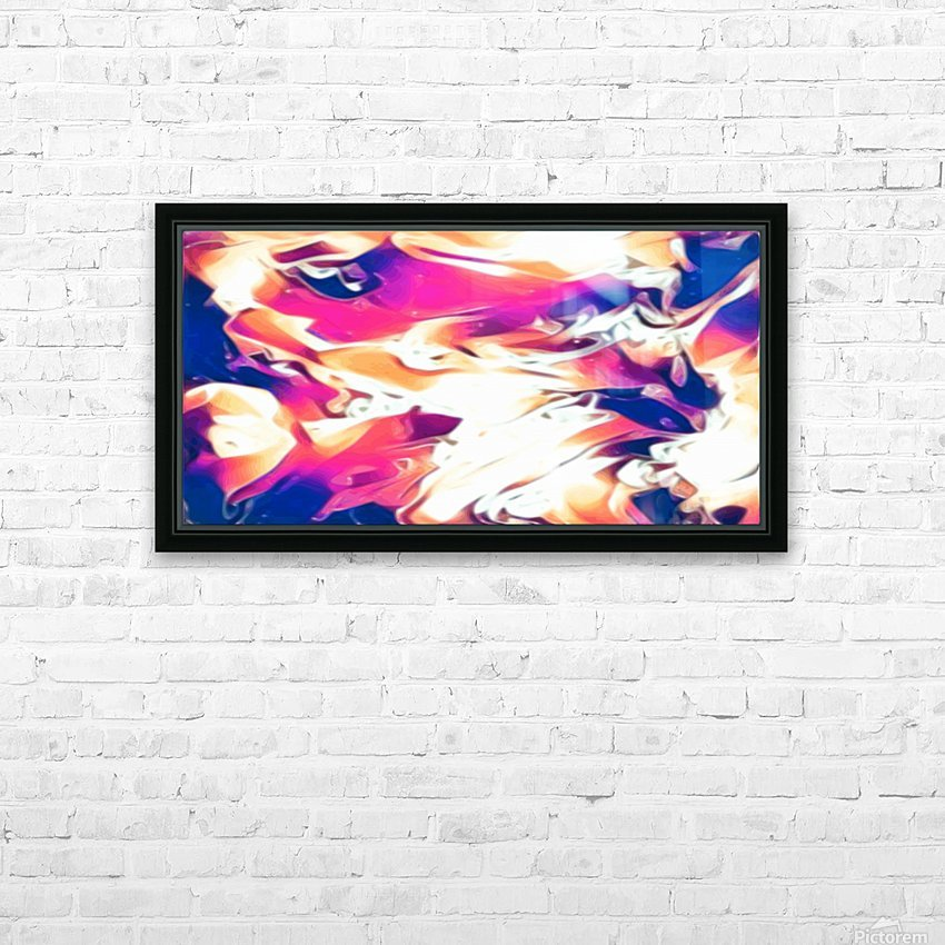 Very Berry - white blue pink orange swirl abstract wall art HD Sublimation Metal print with Decorating Float Frame (BOX)