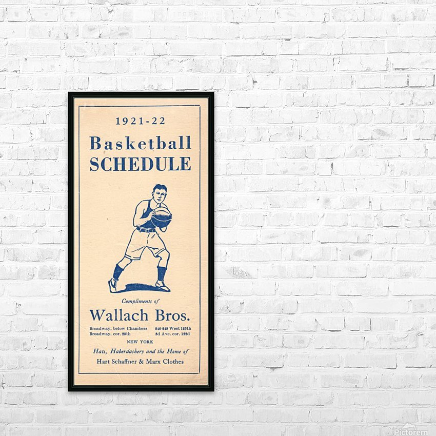 1921 Basketball HD Sublimation Metal print with Decorating Float Frame (BOX)