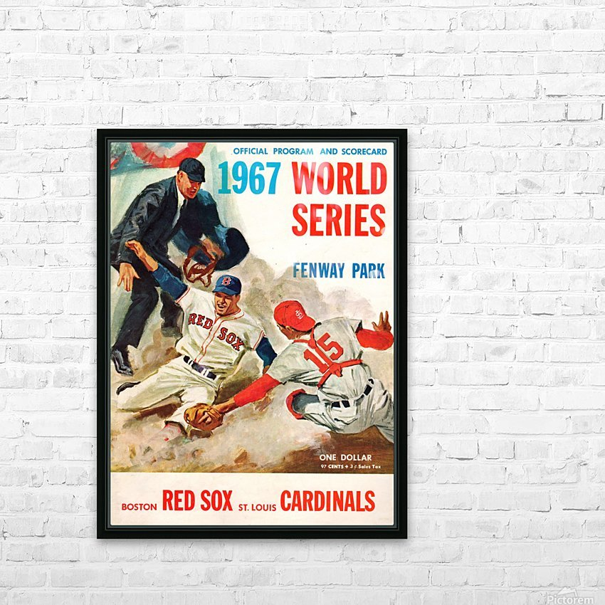 1967 World Series Program Cover Art Fenway Park HD Sublimation Metal print with Decorating Float Frame (BOX)