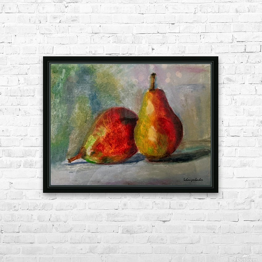 Pears HD Sublimation Metal print with Decorating Float Frame (BOX)