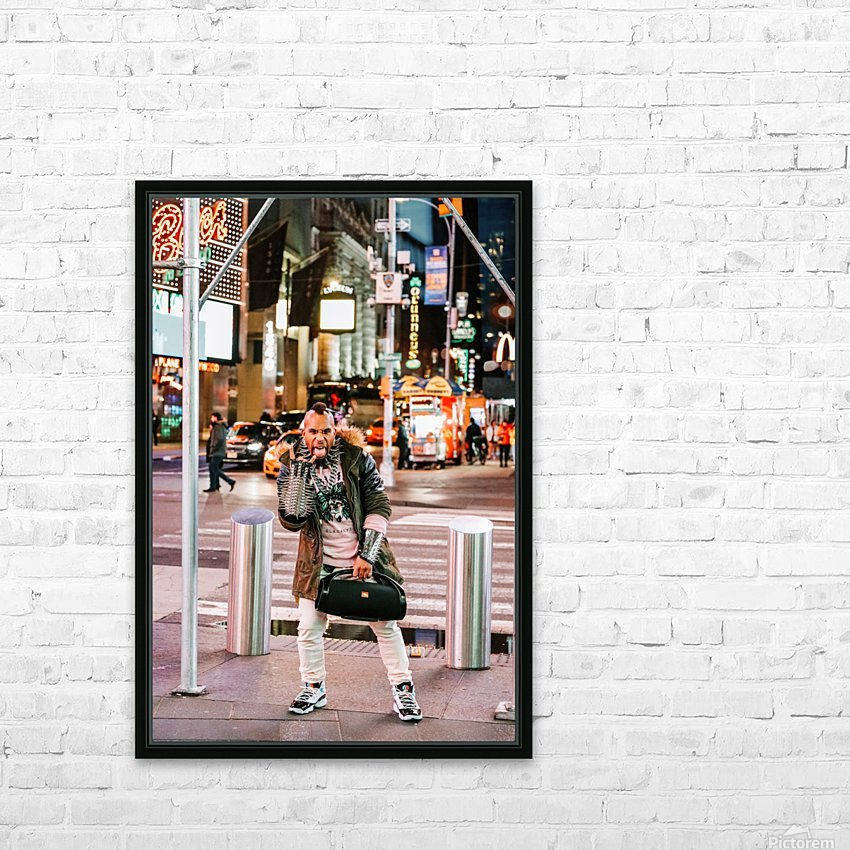 Punk Rock HD Sublimation Metal print with Decorating Float Frame (BOX)