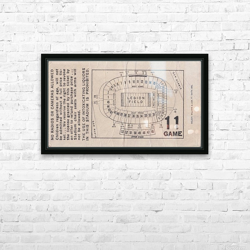 1981 Legion Field Map HD Sublimation Metal print with Decorating Float Frame (BOX)