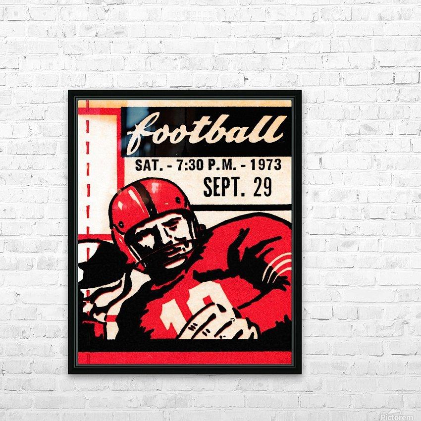 Vintage Football Art_Quarterback Artwork_Vintage Ticket Toss HD Sublimation Metal print with Decorating Float Frame (BOX)