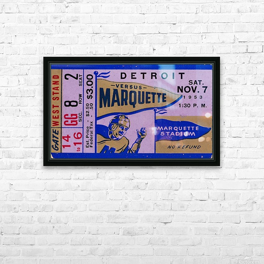 1953 Marquette vs. Detroit HD Sublimation Metal print with Decorating Float Frame (BOX)