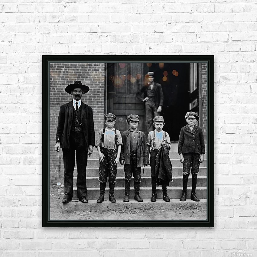 young workers around 1908 HD Sublimation Metal print with Decorating Float Frame (BOX)