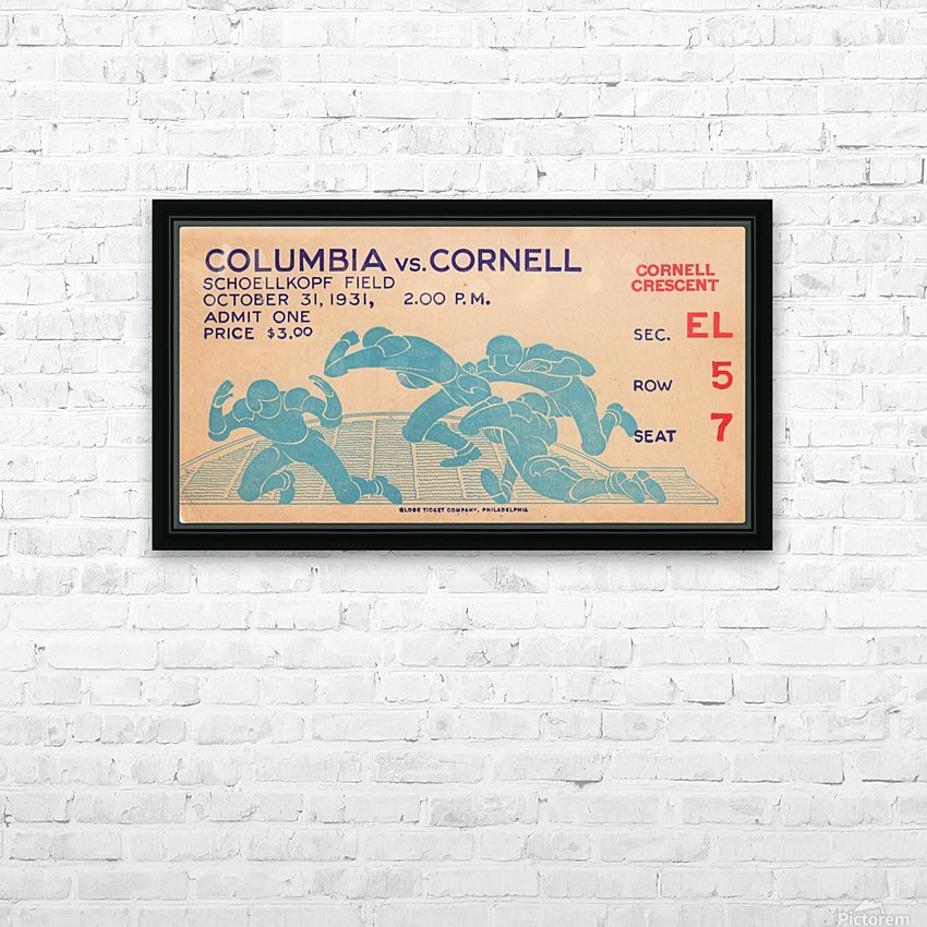 1931 Cornell vs. Columbia HD Sublimation Metal print with Decorating Float Frame (BOX)