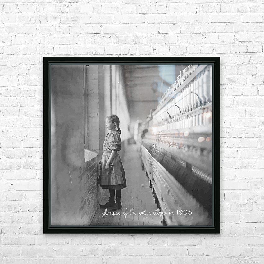 glimpse of the outer world in 1908 HD Sublimation Metal print with Decorating Float Frame (BOX)
