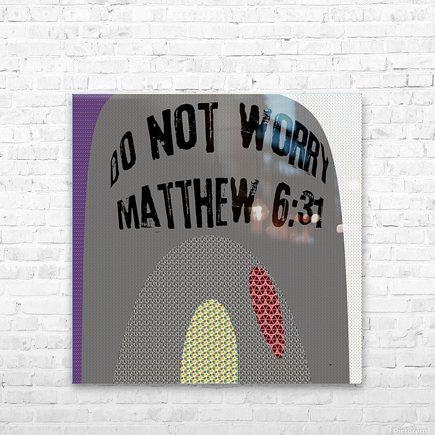 do not worry HD Sublimation Metal print with Decorating Float Frame (BOX)