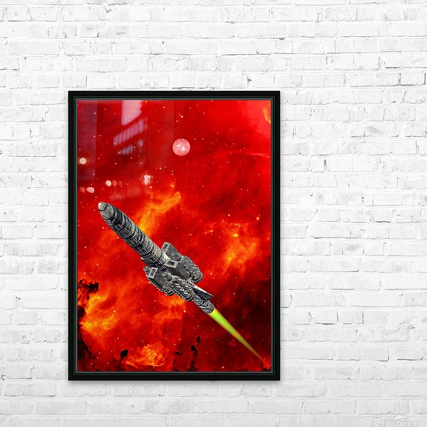 Journey to explore Mars HD Sublimation Metal print with Decorating Float Frame (BOX)