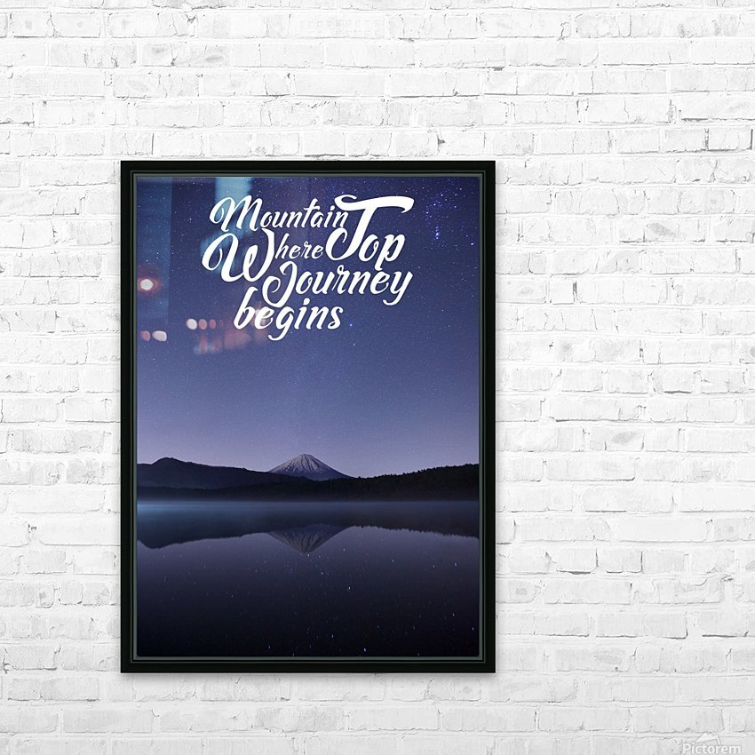 Mountain Top Journey HD Sublimation Metal print with Decorating Float Frame (BOX)