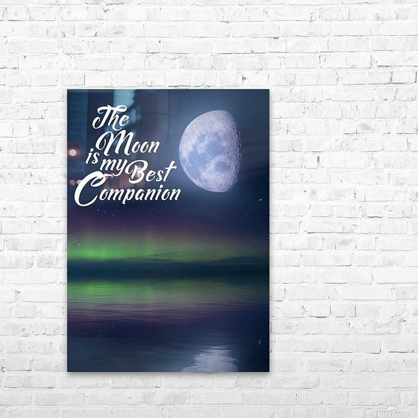 The Moon is my Best Companion HD Sublimation Metal print with Decorating Float Frame (BOX)