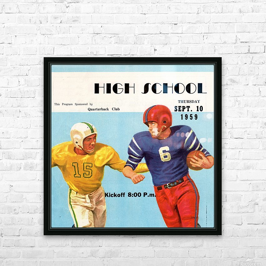 1959 High School Football HD Sublimation Metal print with Decorating Float Frame (BOX)