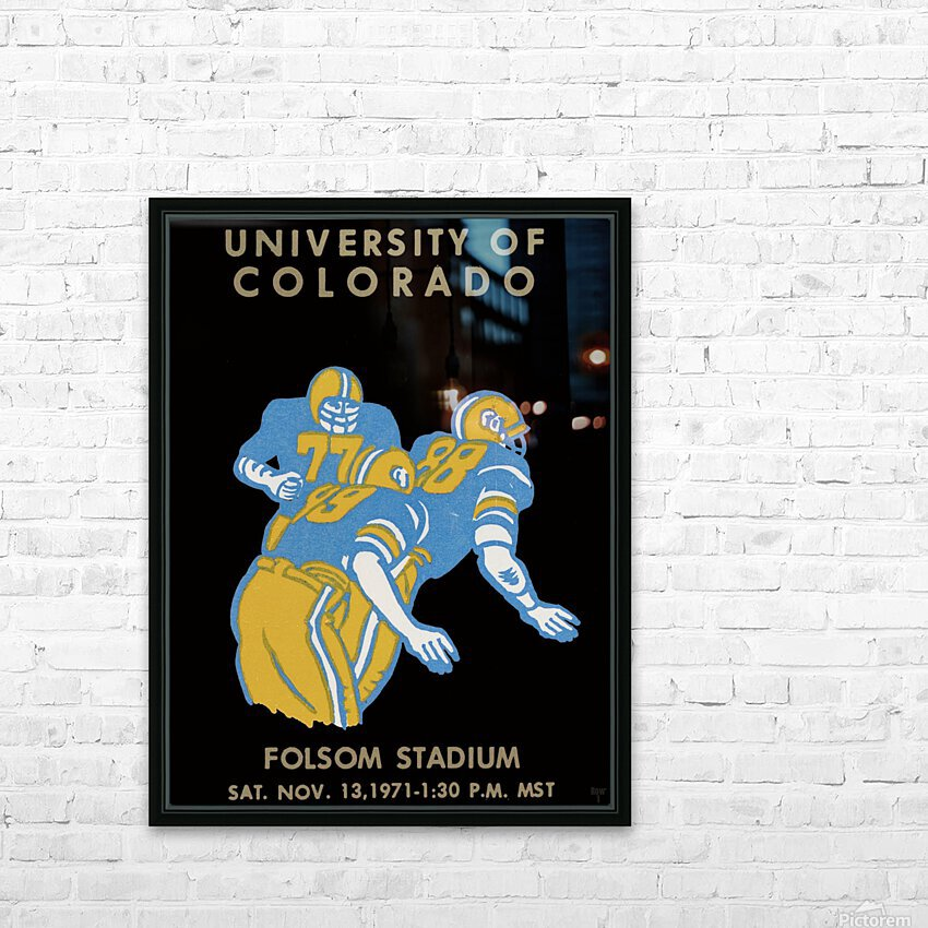 University of Colorado Football Ticket Stub Art Reproduction HD Sublimation Metal print with Decorating Float Frame (BOX)