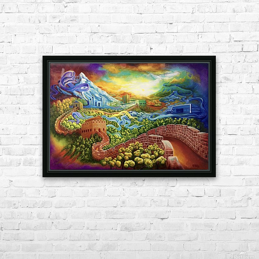 The Great Wall now and then HD Sublimation Metal print with Decorating Float Frame (BOX)