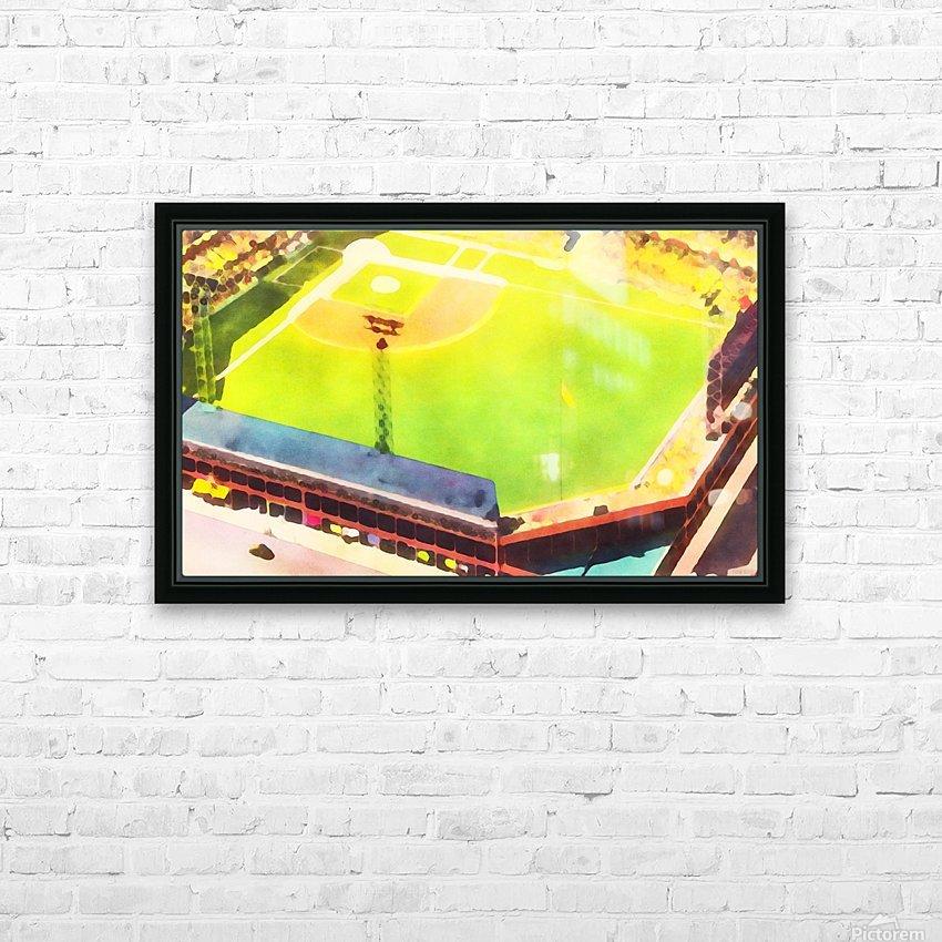 Baseball Ballpark Colorful Art Print HD Sublimation Metal print with Decorating Float Frame (BOX)