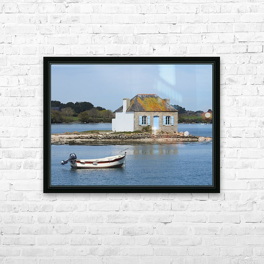 house saint Cado Bretagne HD Sublimation Metal print with Decorating Float Frame (BOX)