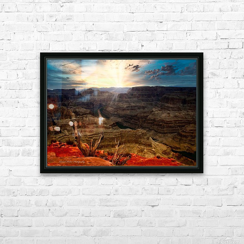 Sunrise over Grand Canyon HD Sublimation Metal print with Decorating Float Frame (BOX)