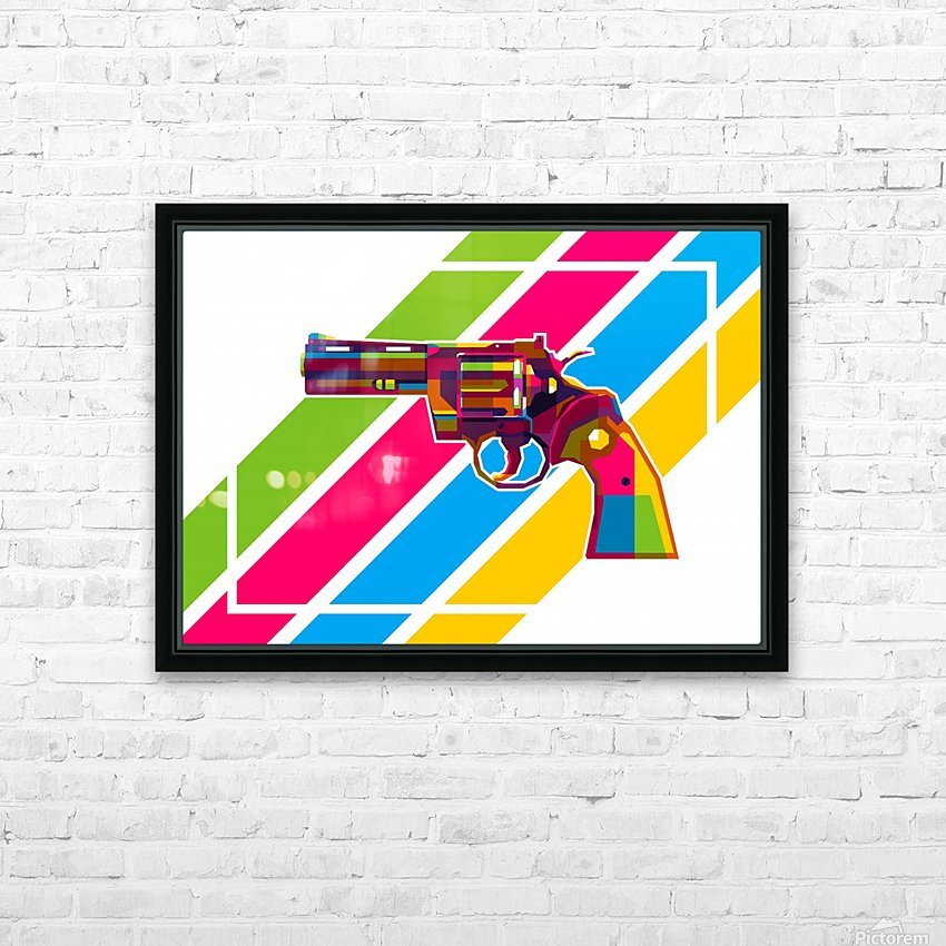 Python Handgun HD Sublimation Metal print with Decorating Float Frame (BOX)