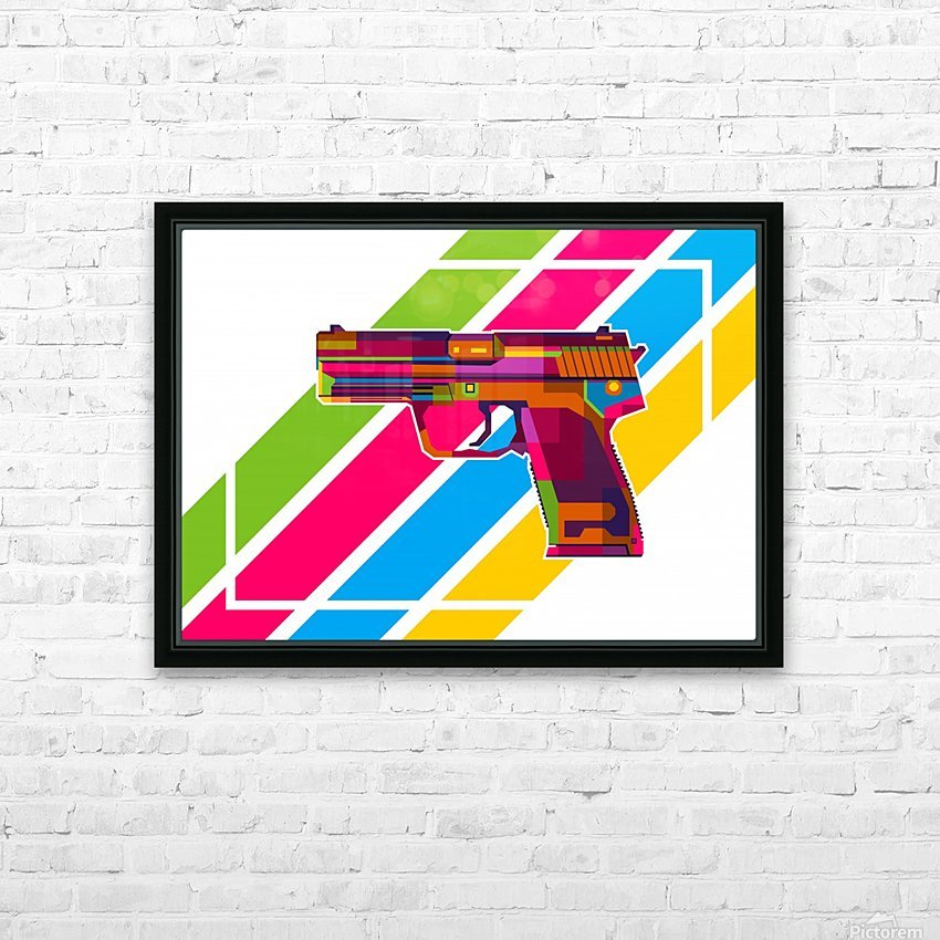 Heckler and Koch USP Handgun HD Sublimation Metal print with Decorating Float Frame (BOX)
